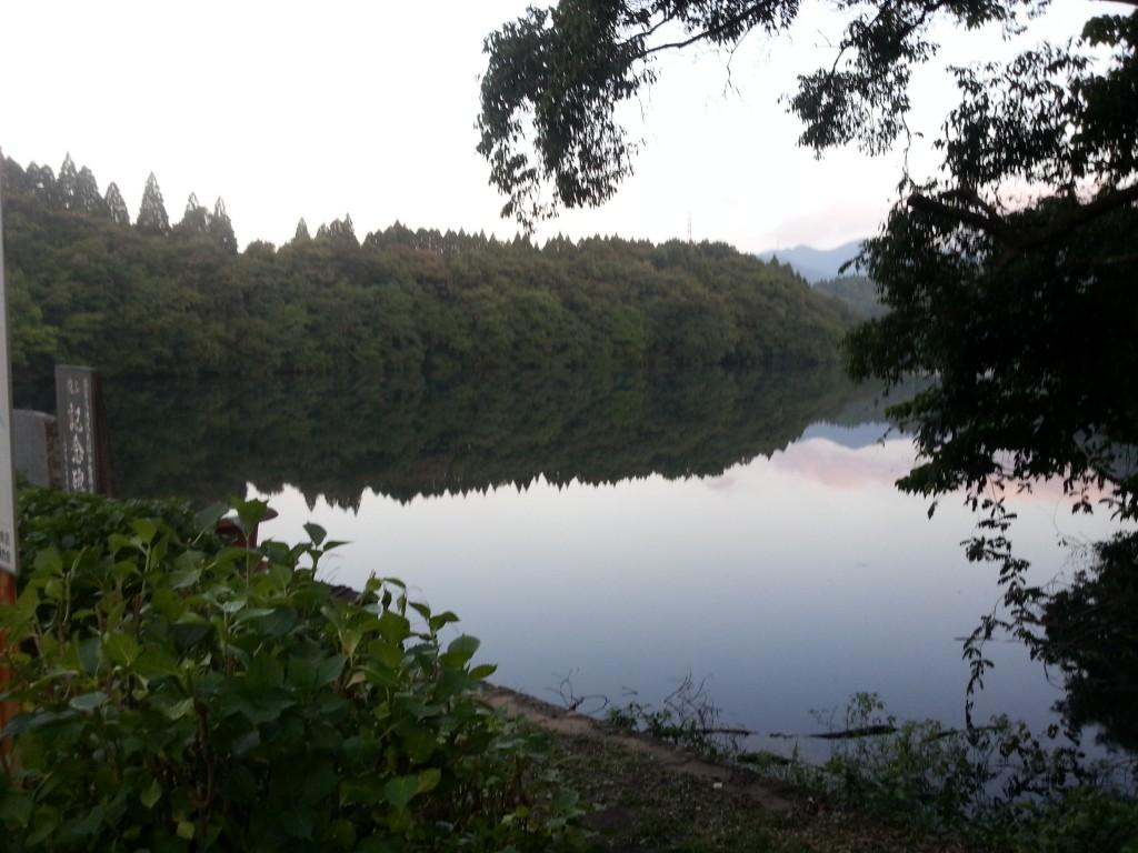 増水した籾木池