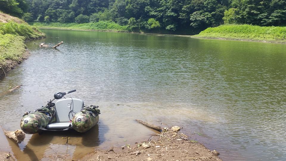 フローターと野尻湖