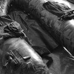 フローターの白黒写真