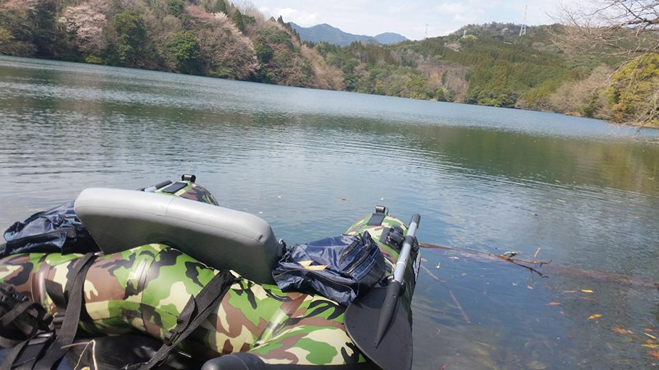 池の水面に浮かぶフローター
