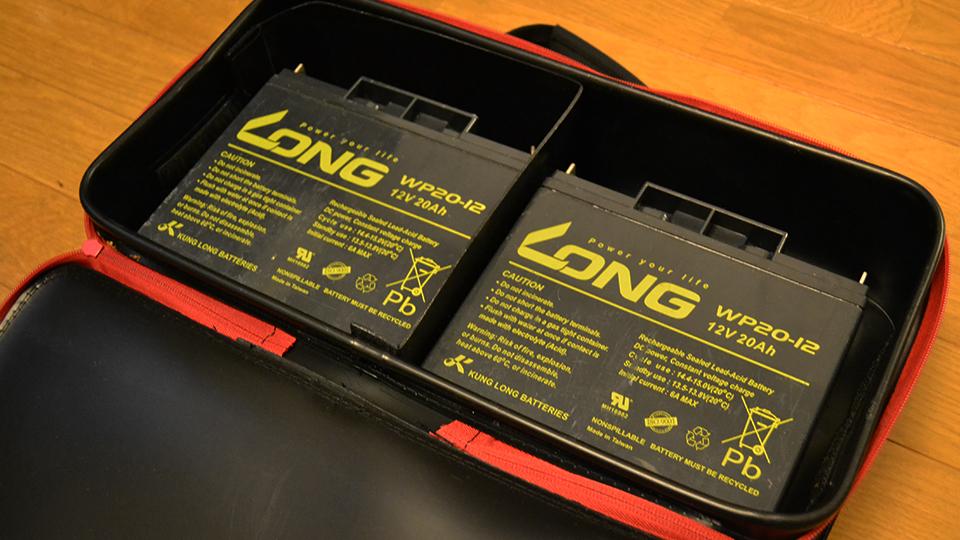 SK11 EVAツールボックスLにLONG製バッテリー『WP20-12』を二個収納