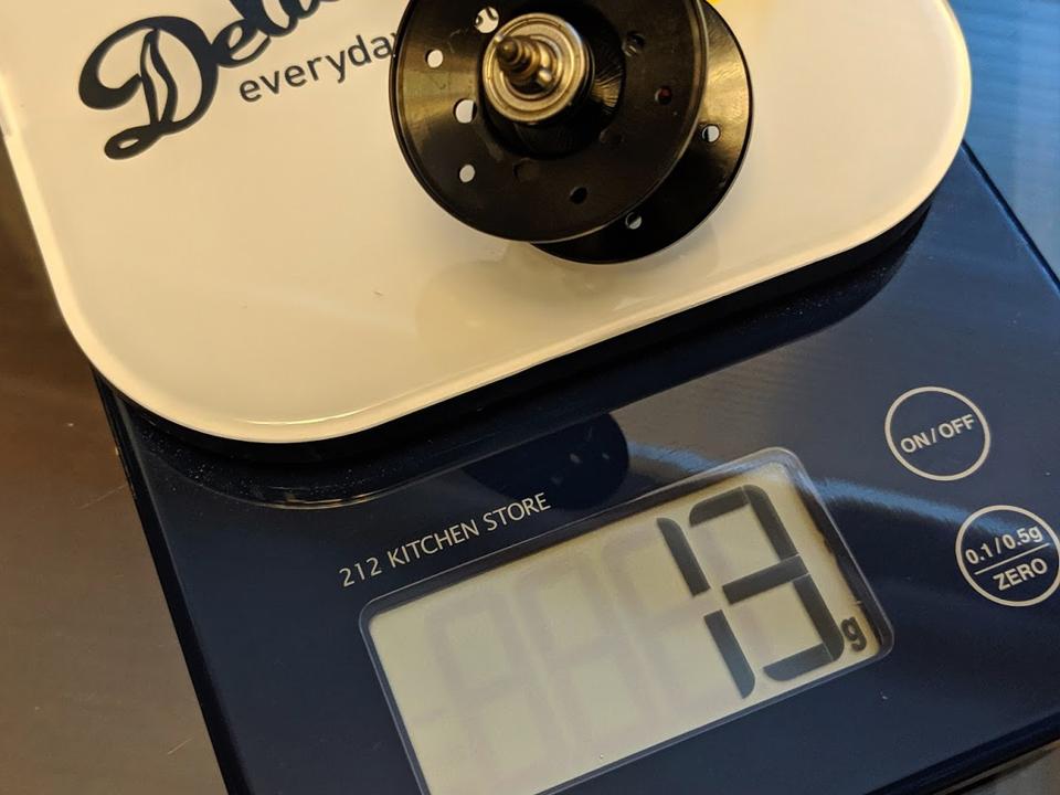 フルレンジ54のスプール重量は『13g』