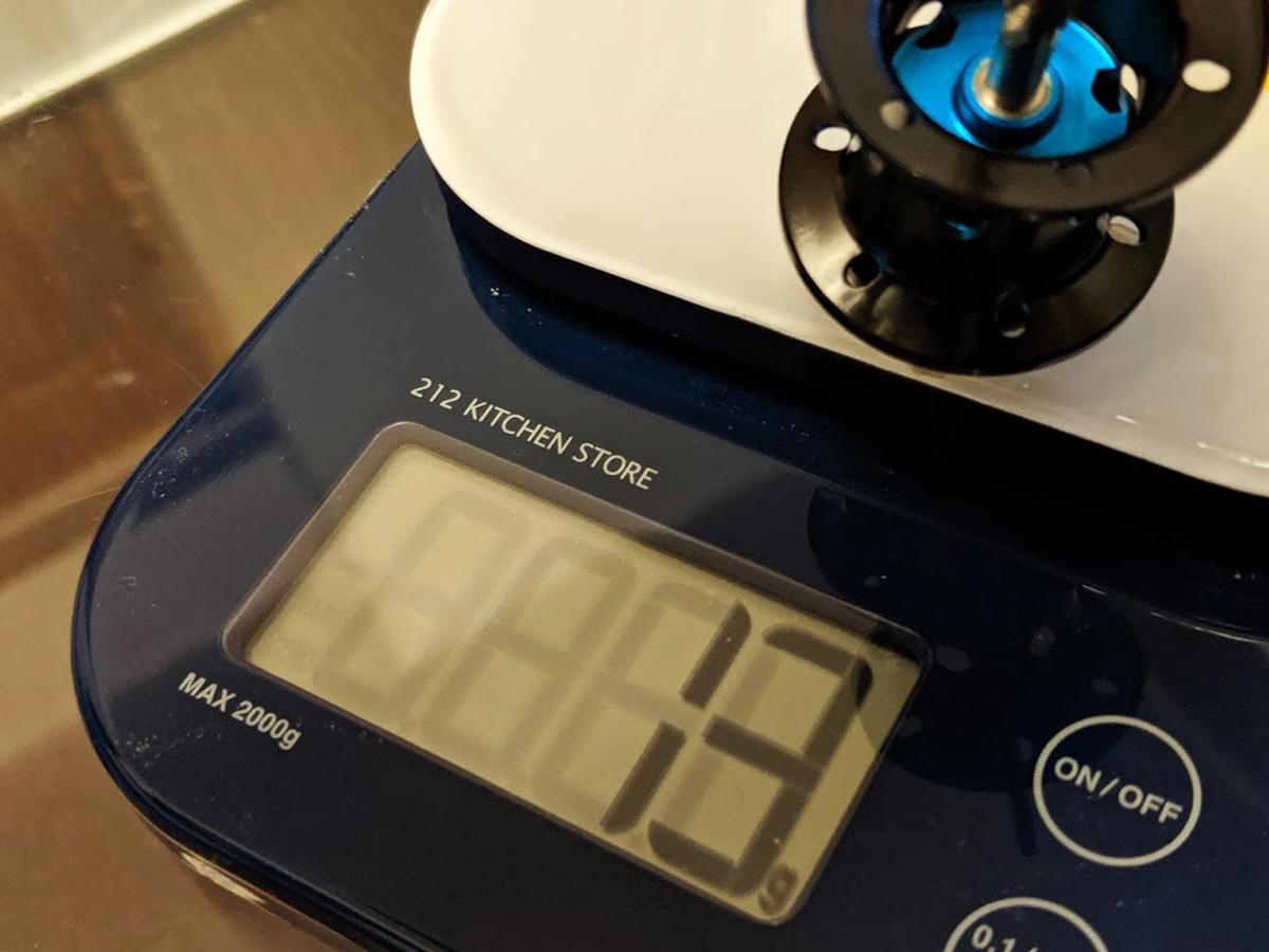 SLX MGLのスプール重量は『13g』