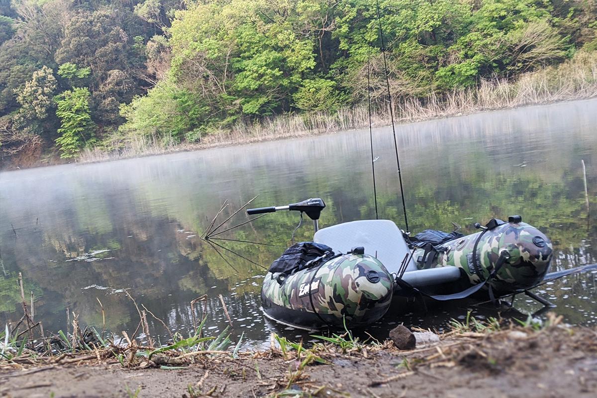 野尻湖(岩瀬ダム)でフローターに乗ってバス釣り