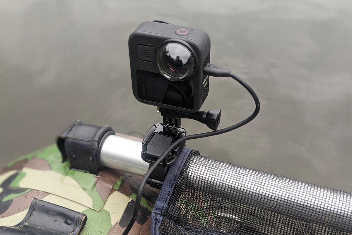 GoPro ハンドルバーシートポストマウント Ver.2.0(AGTSM-001)を取付けたフローターとGoProMAX