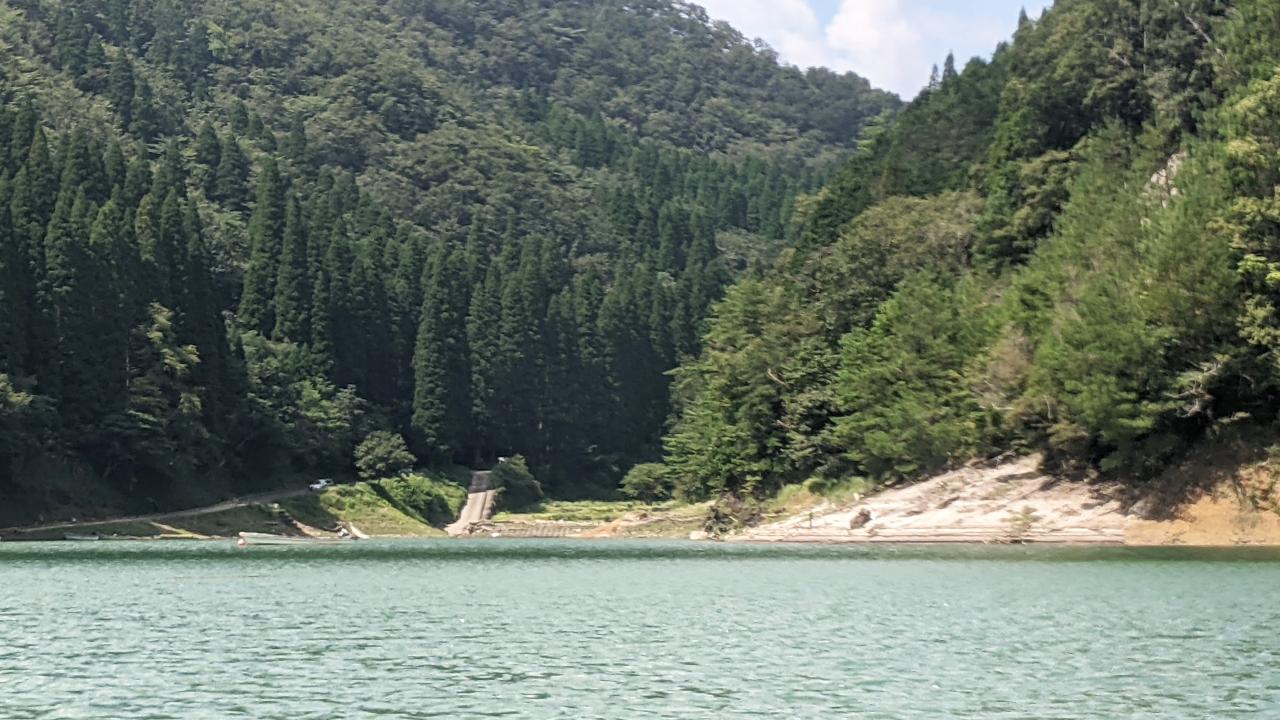 小野湖の陸っぱりできそうなエリア